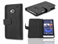 HTC ONE M7 SİYAH MIKNATISLI KART BÖLMELİ CÜZDAN KILIF .