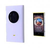 Nokia Lumia 1020 Sert Plastik Kılıf Beyaz