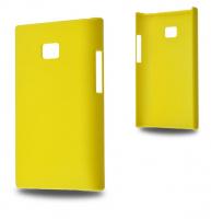 LG OPTİMUS L3 E400 SERT PLASTİK KILIF SARI