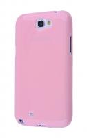 Ally Galaxy Note 2 N7100 Ultra Koruma Silikon Kılıf Pembe