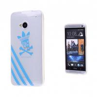 HTC ONE M7 SİLİKON ADİDAS DESENLİ ŞEFFAF KILIF