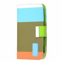 Ally Galaxy S4 İ9500 Rainbow Cüzdan Kılıf (turkuaz Beyaz Yeşil Turuncu)