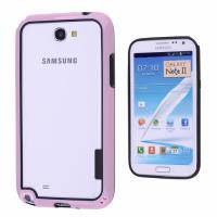 Ally Galaxy Note 2 N7100 Bumper Silikonlu Kılıf Pembe