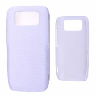 Nokia E71 Nokta Desenli Rubber Sert Plastik Kılıf Beyaz