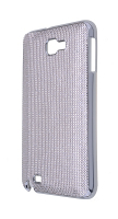 Ally Galaxy Note N7000-i9220 Gri Full Taş İşlemeli Parlak Metal Kılıf .