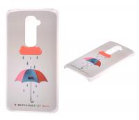 Lg  G2  Şemsiye Desenli Plastik Kılıf
