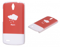 Huawei Ascend G610 Yağmur Desenli Plastik Kılıf