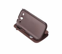 Ally Galaxy S3 İ9300 Flip Cover Kılıf Kahverengi