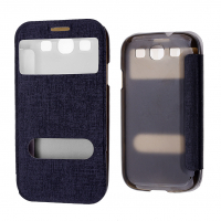 Galaxy S3 Gt İ9300,İ9305 Pencereli Flip Cover Kılıf