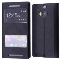 HTC ONE (M8) STANDLI PENCERELİ FLİP COVER KILIF