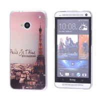 HTC ONE M7 PARİS DESENLİ PLASTİK KILIF