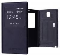 GALAXY NOTE 3 N9000 MIKNATISLI, STAND VE PENCERELİ FLİP COVER KILIF.