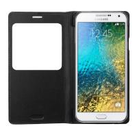 Ally Samsung Galaxy E5 İçin Pencereli Flip Kılıf