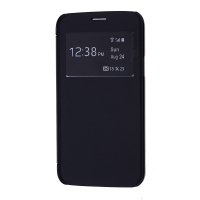 Galaxy S5 Mini Şeffaf Kapaklı Pencereli Flip Cover Kılıf