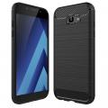Sm Galaxy A7 2017 Dark Ultra Koruma Karbon Fiber Doku Silikon Kılıf