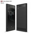 Sony Xperia Xa Dark  Koruma Karbon Fiber Doku Silikon Kılıf