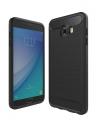 Sm Galaxy C7 Pro Dark Ultra Koruma Karbon Fiber Doku Silikon Kılıf
