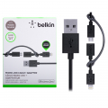 Belkin 0.9 Mt 2 İn1 İphone 5,6,6s7,7plus + Micro Usb Kablo
