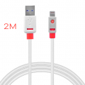 Griffin Flat Usb Kablo 2metre İPhone 11-11Pro XS XR-8-7