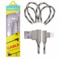 Ally İphone Lightning  Eğik Başlı Halat Usb Kablo 1metre