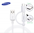 ALLY SAMSUNG 2İN1  MİCRO USB-TYPE-C USB KABLO (OR)