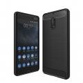 Nokia 6 Dark Ultra Koruma Karbon Fiber Doku Silikon Kılıf