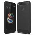 Xiaomi Mi 5x Dark Ultra Koruma Karbon Fiber Doku Silikon Kılıf