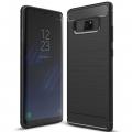Ally SM Galaxy Note 8 Dark Ultra Koruma Karbon Fiber Doku Silikon Kılıf
