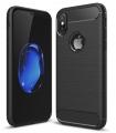 İphone X,XS Dark Ultra Koruma Karbon Fiber Silikon Kılıf