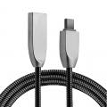 Ally Usb Type-C Zinc Alloy Dayanıklı 2,4 A Metal Usb Kablo