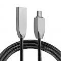 Ally Micro Usb Zinc Alloy Dayanıklı 2,4 A Metal 1mm Usb Kablo
