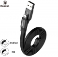 BASEUS CALMBJ 2 İN1 İPHONE  İOS VE MİCRO USB ANDROİD 120CM USB KABLO