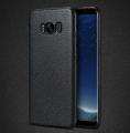 Ally SM Galaxy S8 Plus Deri Dokulu Premium Soft Silikon Kılıf