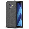 Ally Samsung Galaxy A8 -A8+ Plus 2018 A730 İçin Litchi Tam Koruma Soft Silikon Kılıf