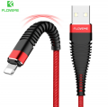 Floveme 1m Halat Dayanıklı İphone 5,6,7,8,X 2.1a Hızlı Usb Kablo