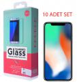 İphone X Xs Kırılmaz Cam Ekran Koruyucu (10 Adet Set
