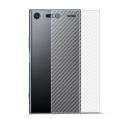 Sony Xperia Xzp Premium Şeffaf Karbon Fiber Arka Koruma Sticker