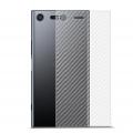 Sony Xperia Xz1 Şeffaf Karbon Fiber Arka Koruma Sticker