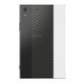 Sony Xperia Xa1 Plus Şeffaf Karbon Fiber Arka Koruma Sticker