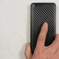 Xiaomi Mi Note 3 Şeffaf Carbon Arka Koruma Bandı