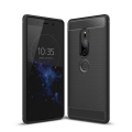 Sony Xperia Xz2 Dark Ultra Koruma Karbon Fiber Doku Silikon Kılıf