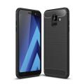 Ally Samsung Galaxy A6 2018 Dark Ultra Koruma Karbon Fiber Doku Silikon Kılıf