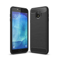 Ally Galaxy J4  Dark Ultra Koruma Karbon Fiber Doku Silikon Kılıf