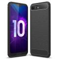 Huawei Honor 10 Dark Ultra Koruma Karbon Fiber Doku Silikon Kılıf