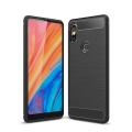 Xiaomi Mi Mix 2s Dark Ultra Koruma Karbon Fiber Doku Silikon Kılıf
