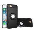 İPhone 7-İPhone 8-İPhone SE 2020 Kılıf 360 Doner Yüzüklü Darbe Emici Armor Tpu+pc Kılıf