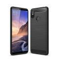 Xiaomi Mi Max 3 Dark Ultra Koruma Karbon Fiber Doku Silikon Kılıf