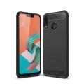 Asus Zenfone 5 Ze620kl Dark Ultra Koruma Karbon Fiber Doku Silikon Kılıf