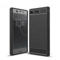 Sony Xperia Xz1 Compact,Dark Ultra Koruma Karbon Fiber Doku Silikon Kılıf