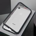 İphone 7,İphone 8,Mıknatıslı 360 Koruma Arkası Cam Metal Frame Kılıf
